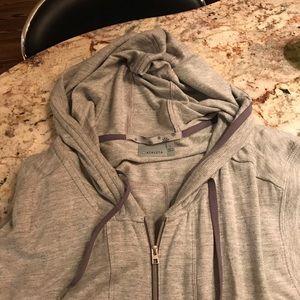 NWOT athleta light weight zip up hooded vest